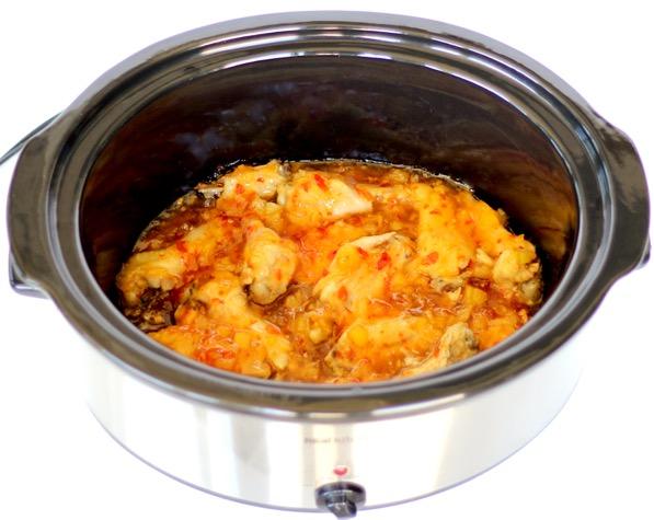 Crockpot Chicken with Sweet Chili Sauce