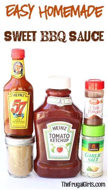 Easy Homemade Sweet BBQ Sauce Recipe from TheFrugalGirls.com