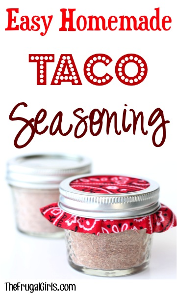 Easy Taco Seasoning Recipe {Just 6-Ingredients} from TheFrugalGirls.com