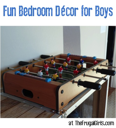 Fun Bedroom Decor for Boys - at TheFrugalGirls.com