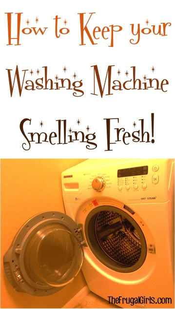 How to Keep Washing Machine Smelling Fresh - tip from TheFrugalGirls.com