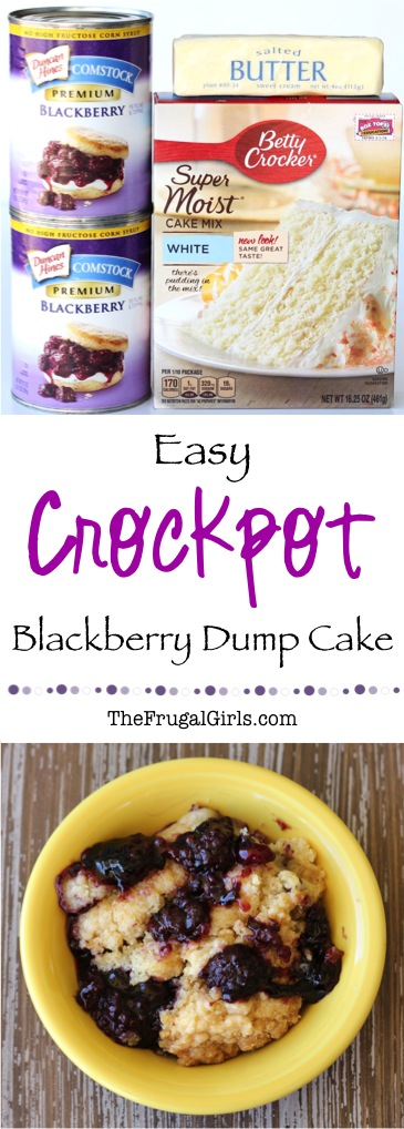 Crockpot Blackberry Dump Cake Recipe - at TheFrugalGirls.com