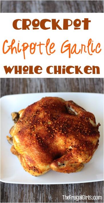 Crockpot Chipotle Chicken Recipe from TheFrugalGirls.com