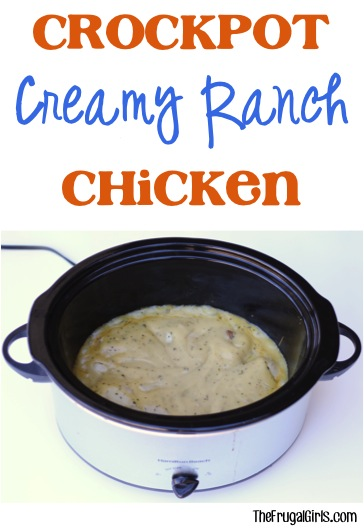 Crockpot Creamy Ranch Chicken Recipe - from TheFrugalGirls.com