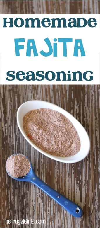 Easy Fajita Seasoning Recipe from TheFrugalGirls.com