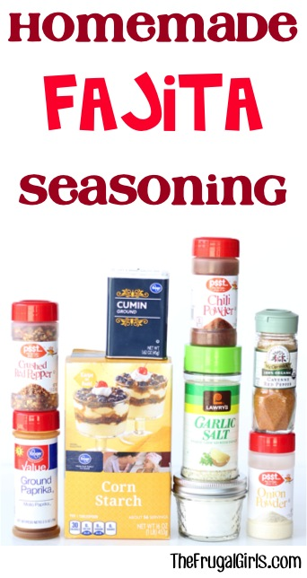 Homemade Fajita Seasoning Recipe from TheFrugalGirls.com