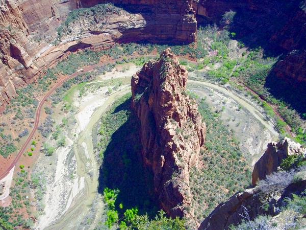 Angel's Landing Panorama View from TheFrugalGirls.com