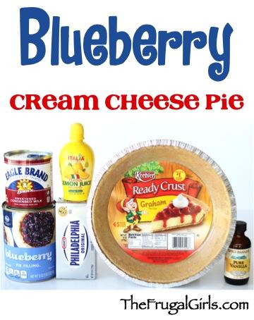 Blueberry Cream Cheese Pie Recipe at TheFrugalGirls.com
