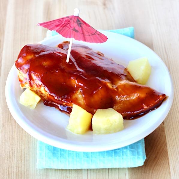 Crockpot Sweet Hawaiian Barbecue Chicken Recipe