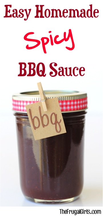 Easy Homemade Spicy BBQ Sauce Recipe from TheFrugalGirls.com