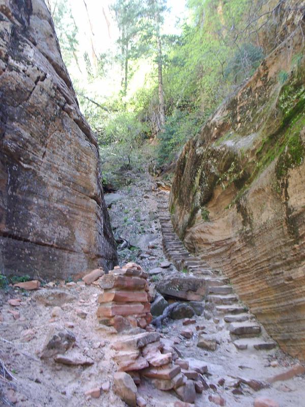 Hidden Canyon Trail Zion NP | TheFrugalGirls.com
