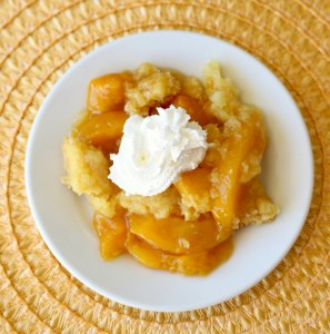 Crockpot Peach Dump Cake Recipe