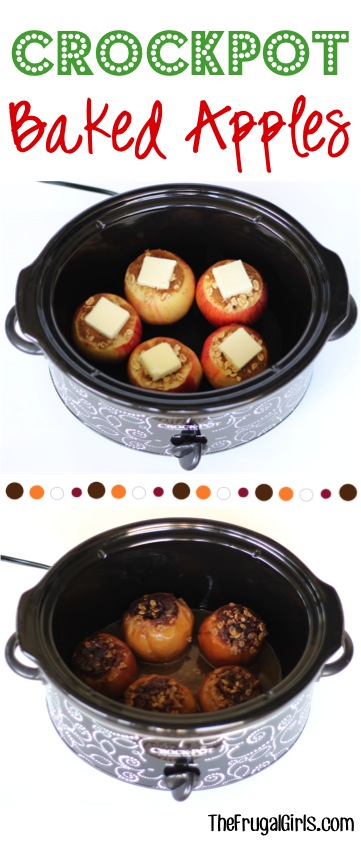 Crock Pot Baked Apples Recipe from TheFrugalGirls.com