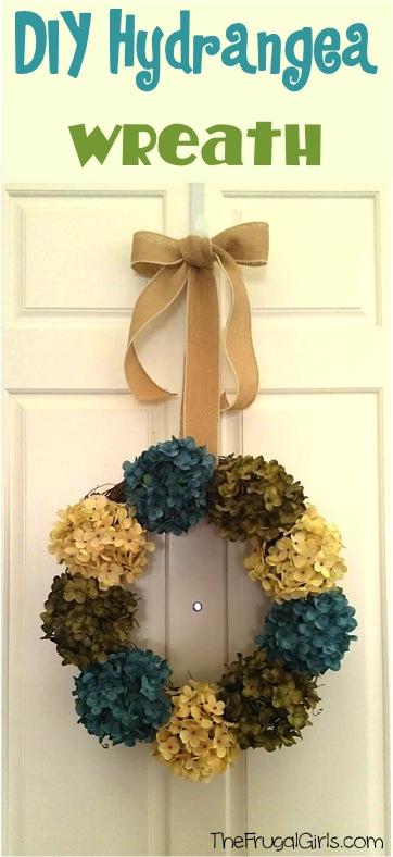 Hydrangea Wreath for Front Door