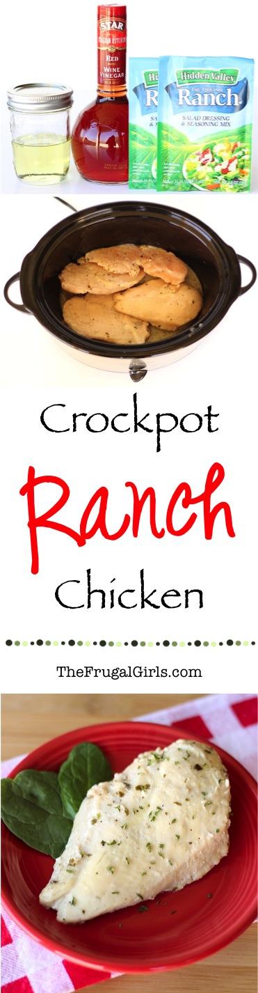Crockpot Ranch Chicken Recipe from TheFrugalGirls.com