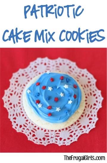 Patriotic Cake Mix Cookie Recipe from TheFrugalGirls.com