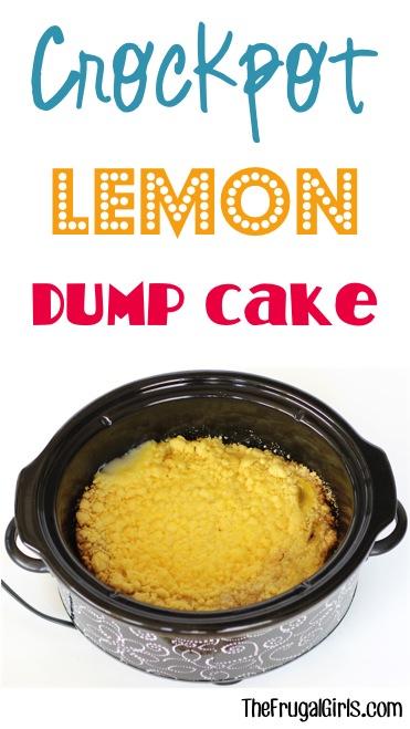 Easy Crockpot Lemon Dump Cake Recipe from TheFrugalGirls.com
