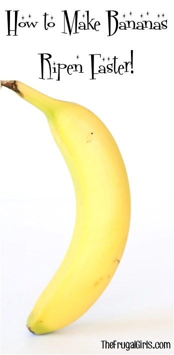 How to Make Bananas Ripen Faster from TheFrugalGirls.com