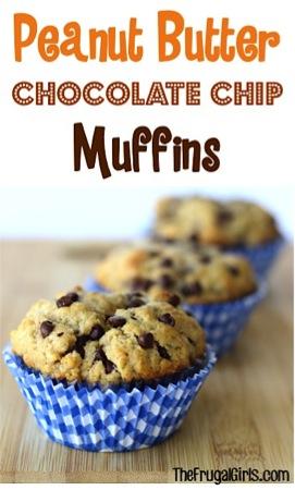 Peanut Butter Chocolate Chip Muffins Recipe