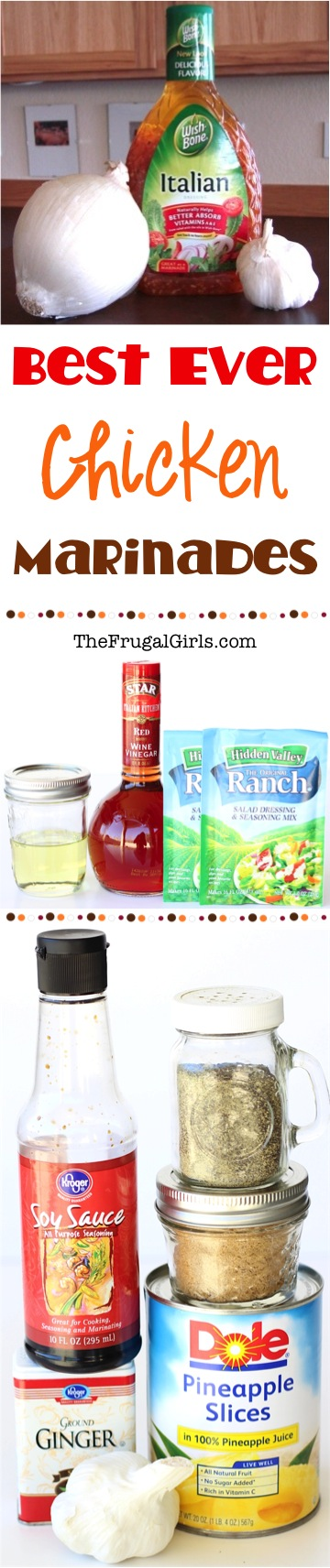Best Chicken Marinade Recipes from TheFrugalGirls.com