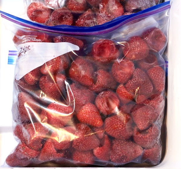 How to Freeze Strawberries Trick from TheFrugalGirls.com