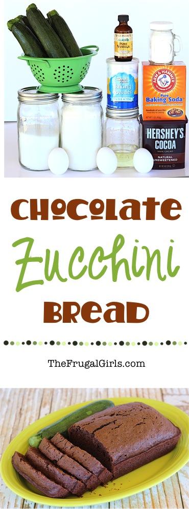 Chocolate Zucchini Bread Recipe from TheFrugalGirls.com