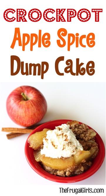Crockpot Apple Spice Dump Cake Recipe - from TheFrugalGirls.com