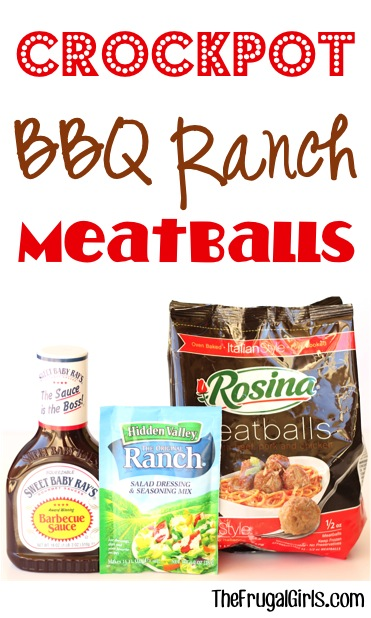 Crockpot Barbecue Ranch Meatballs Recipe from TheFrugalGirls.com