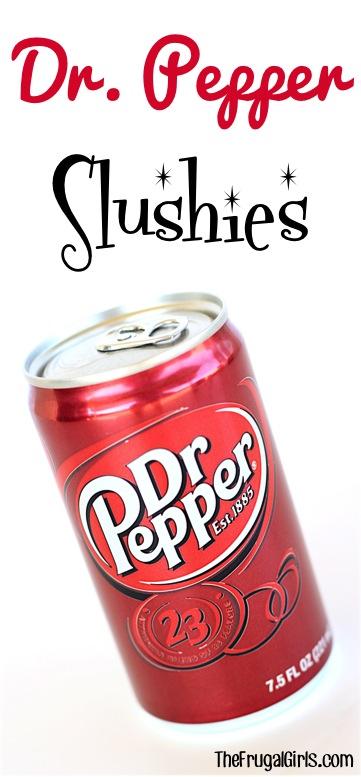Dr. Pepper Slush Recipe from TheFrugalGirls.com