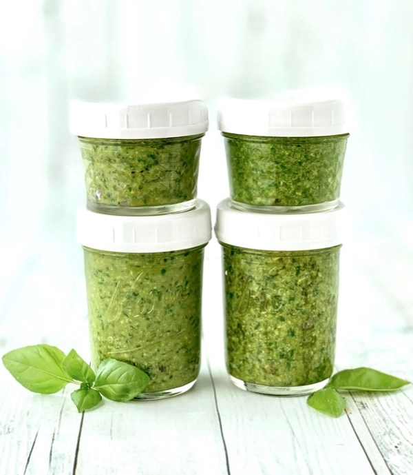 How to Freeze Pesto in Glass Jars