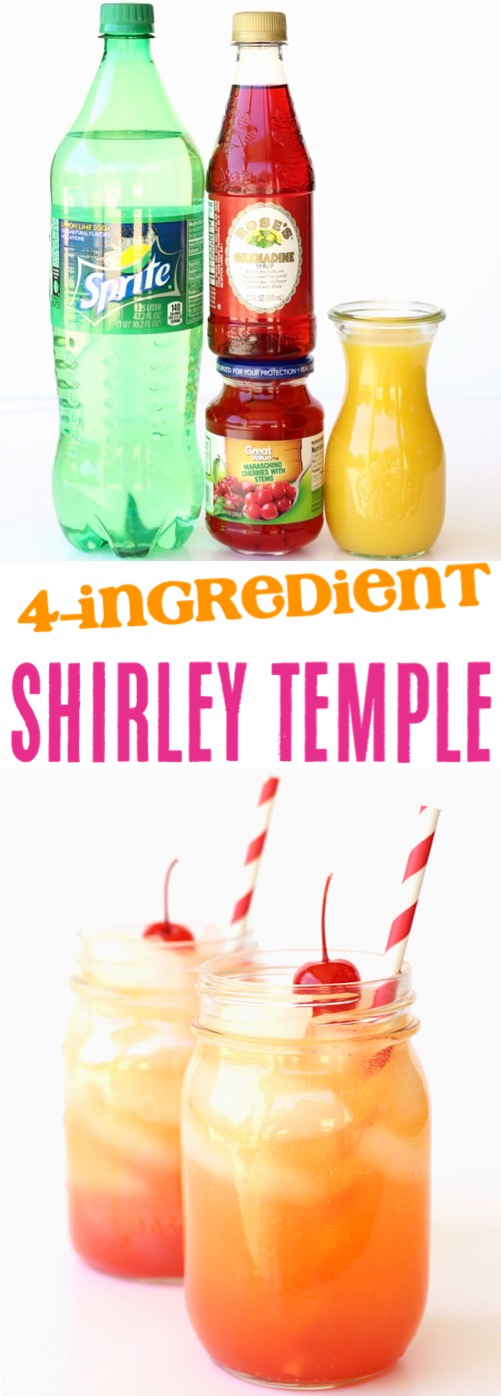 Shirley Temple Drink Recipe for Kids or Adults