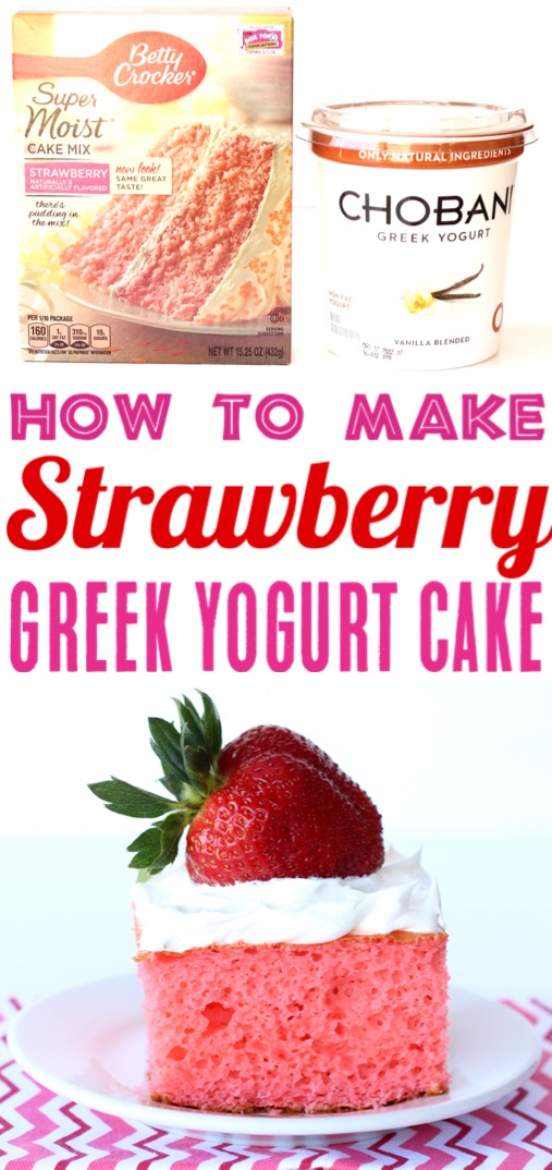 Strawberry Cake Recipe Easy Cake Mix Recipes with Vanilla Greek Yogurt Filling