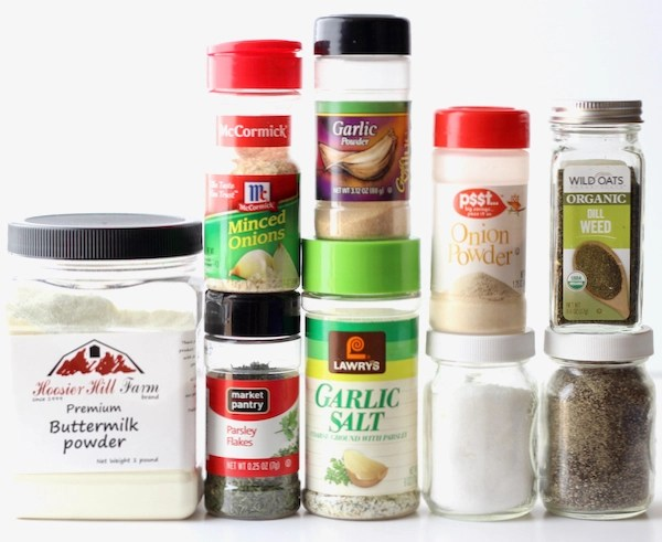 Buttermilk Ranch Dressing Mix Ingredients