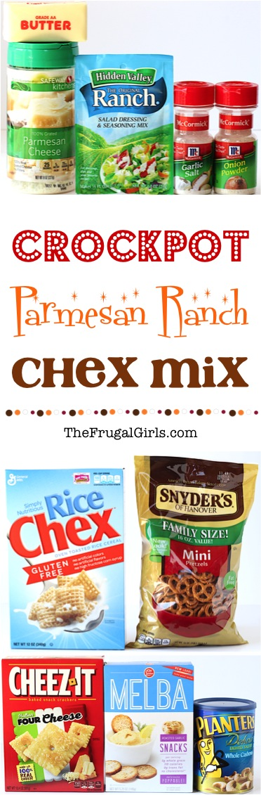 Crock Pot Chex Mix Recipe at TheFrugalGirls.com