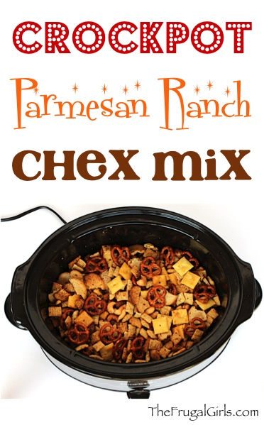 Crock Pot Chex Mix Recipe - from TheFrugalGirls.com