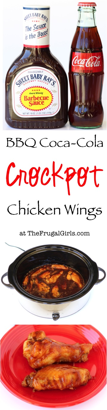 Crockpot Barbecue Coca Cola Wings Recipe from TheFrugalGirls.com