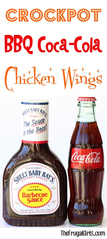 Crockpot BBQ Coke Chicken Wings Recipe from TheFrugalGirls.com