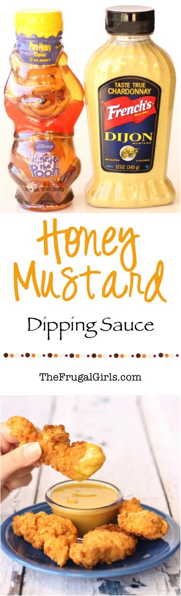 Easy Honey Mustard Dipping Sauce from TheFrugalGirls.com