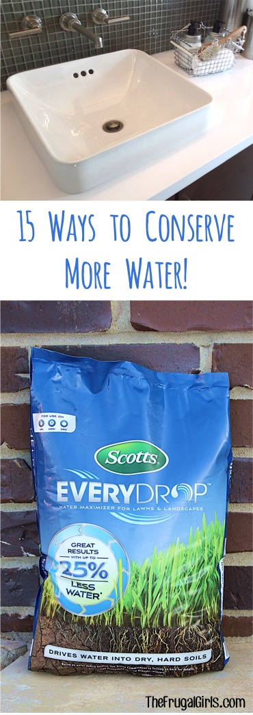 Ways to Conserve Water -- Tips at TheFrugalGirls.com