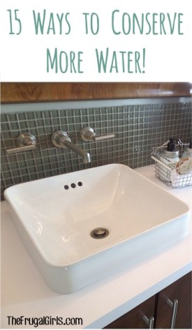 Ways to Conserve Water - at TheFrugalGirls.com