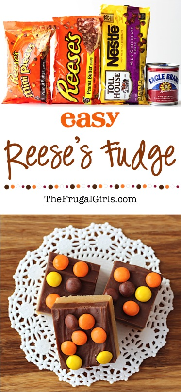 Reeses Fudge Recipe at TheFrugalGirls.com