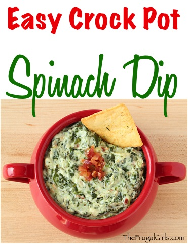 Best Crockpot Spinach Dip Recipe from TheFrugalGirls.com