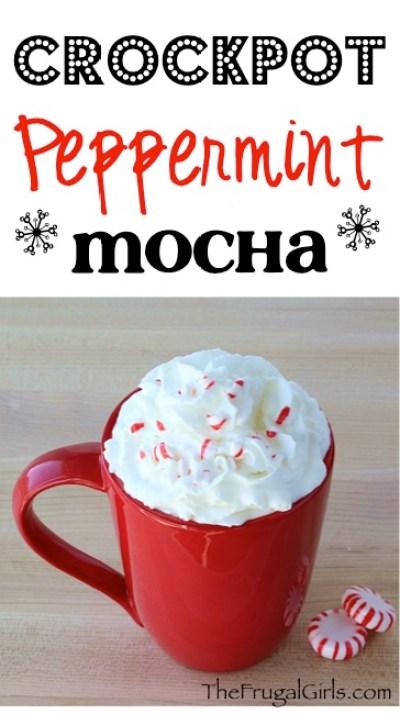 Crock Pot Peppermint Mocha Recipe at TheFrugalGirls.com