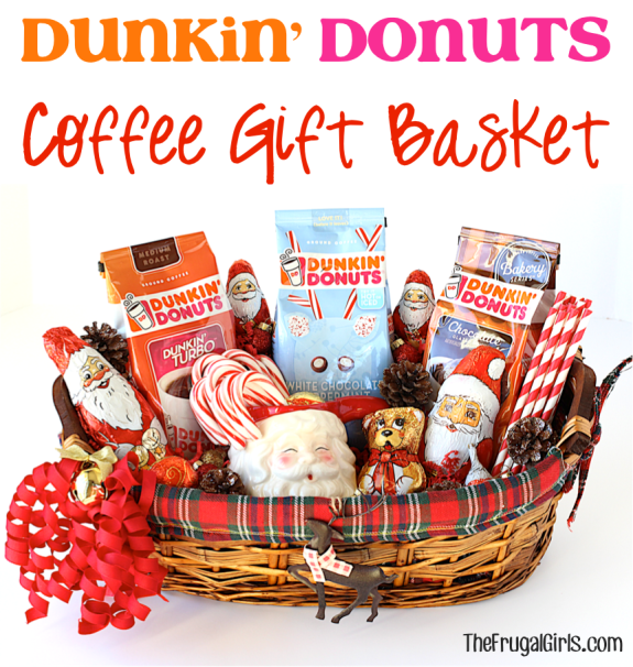 Dunkin Donuts Coffee Gift Basket from TheFrugalGirls.com