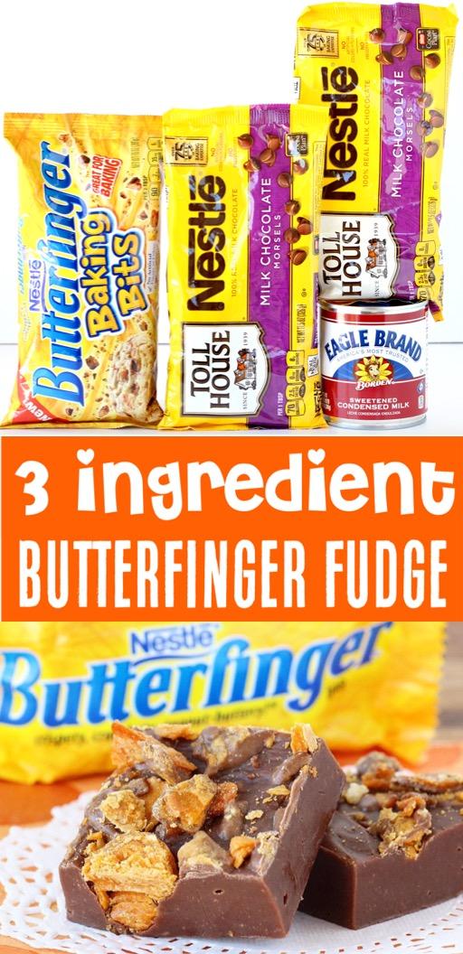 Fudge Recipes Easy Chocolate Butterfinger Fudge with Condensed Milk Recipe