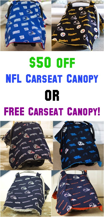NFL Carseat Canopy