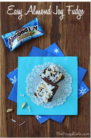 Almond Joy Fudge Recipe at TheFrugalGirls.com