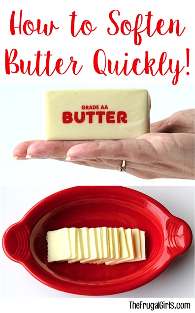 Soften Butter Quickly Trick from TheFrugalGirls.com
