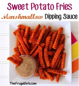 Sweet Potato Fries Marshmallow Dipping Sauce