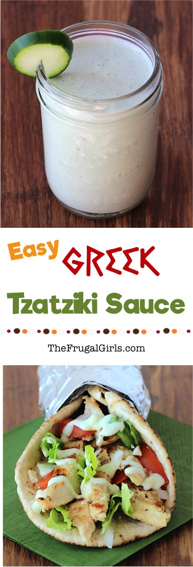 Easy Greek Tzatziki Sauce Recipe from TheFrugalGirls.com